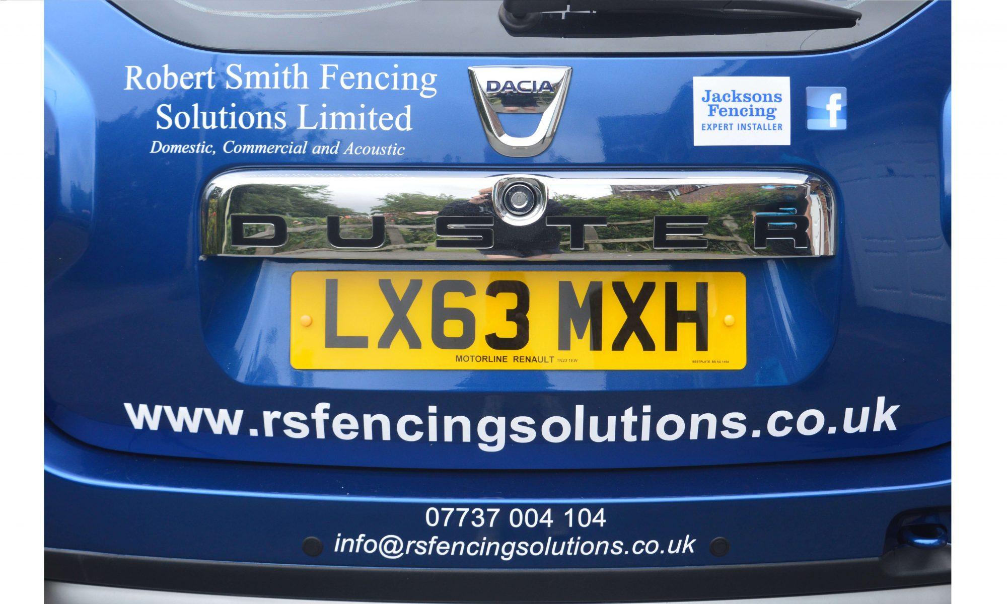 RS Fencing Solutions Ashford Car