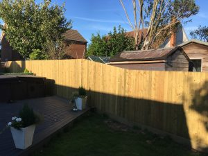 Slope on Featherboard Fence increasing height