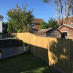 Traditional Featherboard fence in Hythe