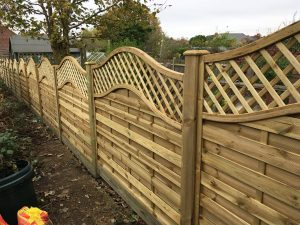 Continental fencing panel install