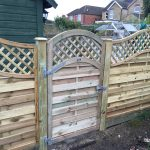 Fencing panels and gate install