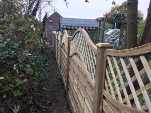 Run of fence panels in Kent