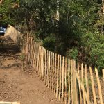 skakes and cleft chestnut fencing install
