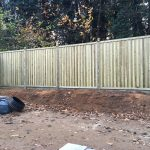 Chilham timber garden fence panel install
