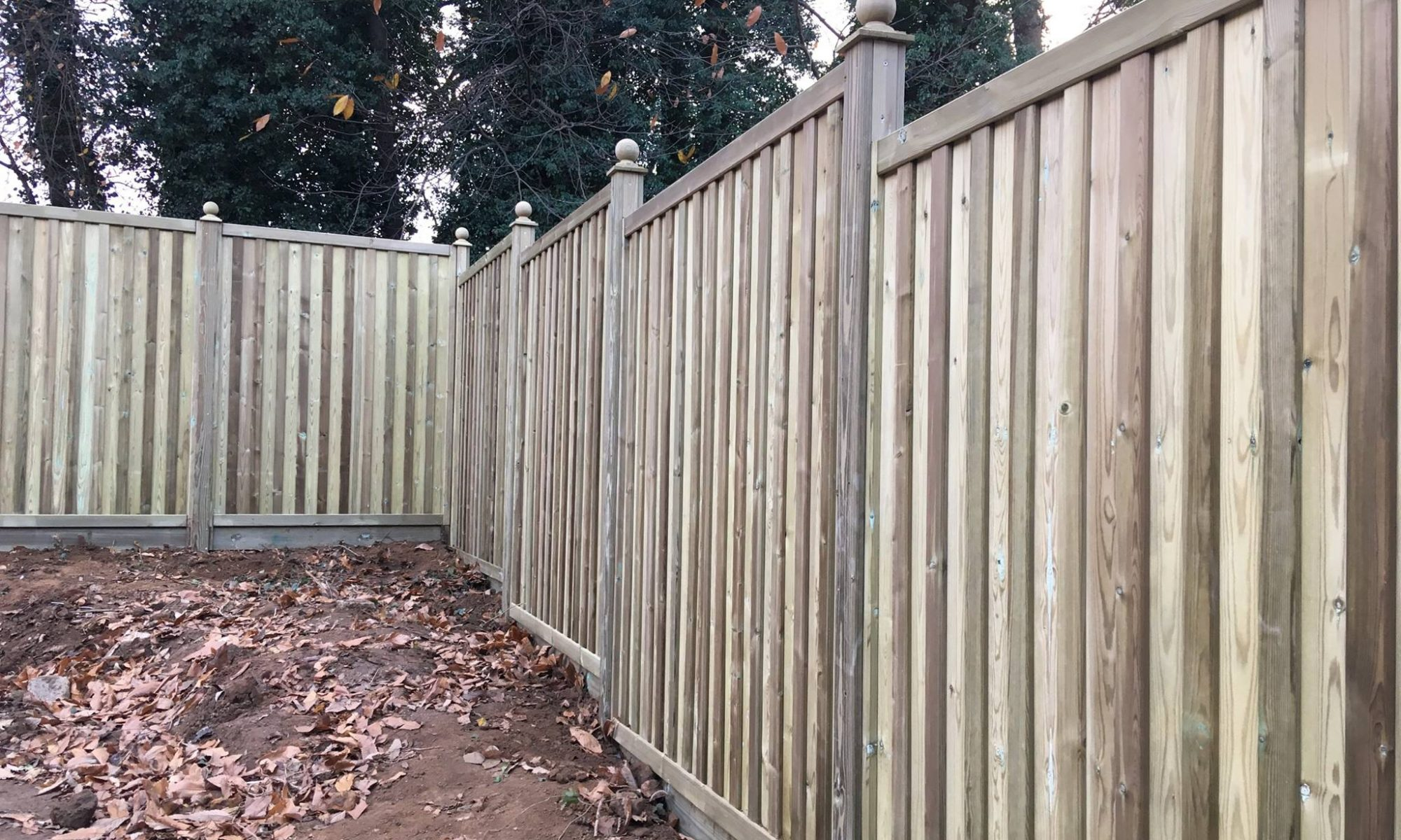 Installation of Premium fence panels near Ashford in Kent