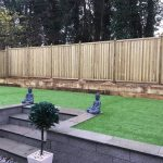 Chilham fencing panels in contemporary garden