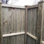 Detail of corner of fence