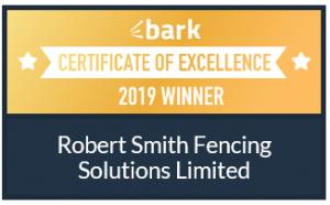 Bark Fencing Certificate